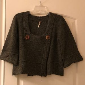 Free people green sweater